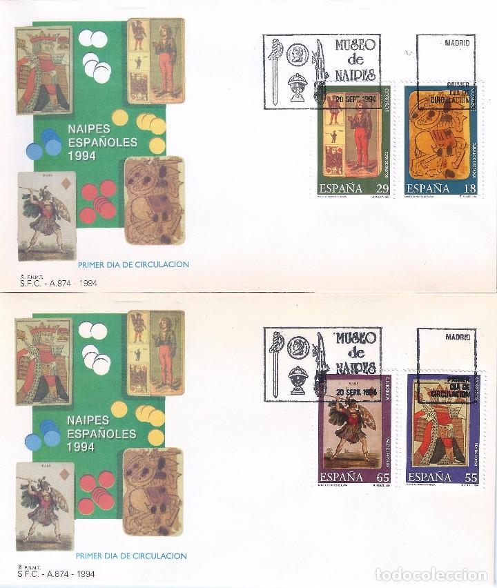 EDIFIL 3317-3320 MUSEO DE NAIPES. SOBRES PRIMER DÍA 20-09-1994. (Sellos - España - Juan Carlos I - Desde 1.986 a 1.999 - Nuevos)