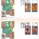 Sellos: EDIFIL 3317-3320 MUSEO DE NAIPES. SOBRES PRIMER DÍA 20-09-1994.. Lote 87024452