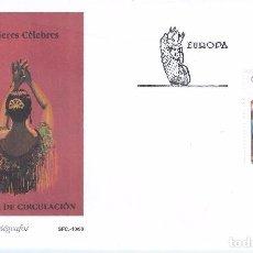 Sellos: EDIFIL 3434 MUJERES CÉLEBRES. CARMEN AMAYA. SOBRE PRIMER DÍA DE CIRCULACIÓN 06-05-1996.. Lote 87038796