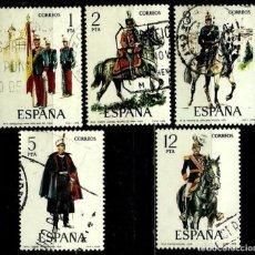 Sellos: ESPAÑA 1978- EDI 2451/55 (SERIE: UNIFORMES MILITARES) USADOS. Lote 87173940