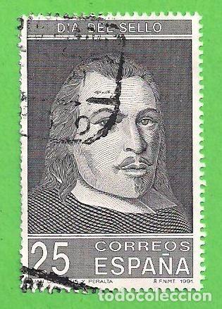 EDIFIL 3110. DÍA DEL SELLO - RETRATO DE JUAN DE TASSIS Y PERALTA, II CONDE DE VILLAMEDIANA. (1991). (Sellos - España - Juan Carlos I - Desde 1.986 a 1.999 - Usados)