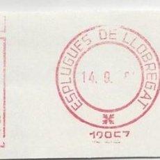Sellos: FRAGMENTO FRANQUEO MECANICO ESPLUGUES DE LLOBREGAT BARCELONA. Lote 87678924