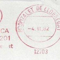 Sellos: FRAGMENTO FRANQUEO MECANICO HOSPITALET DE LLOBREGAT BARCELONA. Lote 87679080