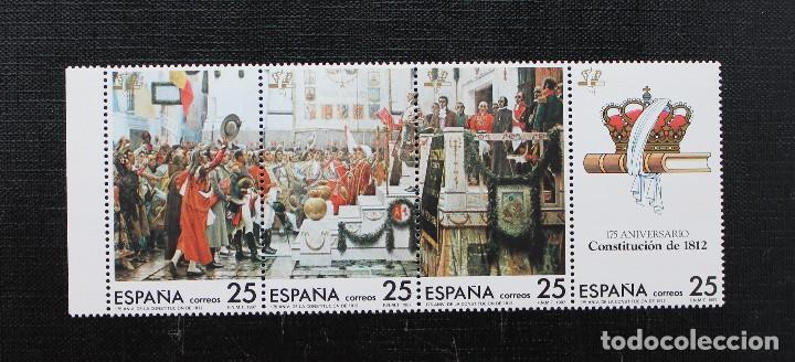 ESPAÑA 1987 175 ANIVERSARIO DE LA CONSTITUCIÓN DE 1812,EDIFIL 2887 AL 2890 (**) (Sellos - España - Juan Carlos I - Desde 1.986 a 1.999 - Nuevos)