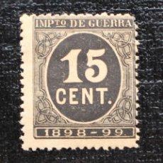 Sellos: ESPAÑA 1898, CIFRAS SELLOS DE IMPUESTO DE GUERRA 15 CENT, EDIFIL 238 * . Lote 88714484