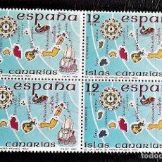 Sellos: ESPAÑA. 2623 ESPAÑA INSULAR: ISLAS CANARIAS, EN BLOQUE DE CUATRO.1981. NUMERACIÓN EDIFIL Y SELLOS NU. Lote 148167242