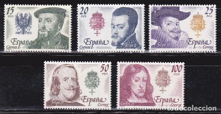 1979 - REYES DE ESPAÑA - CASA DE AUSTRIA - EDIFIL 2552,2553,2554,2555,2556 - SERIE COMPLETA**MNH (Sellos - España - Juan Carlos I - Desde 1.975 a 1.985 - Nuevos)
