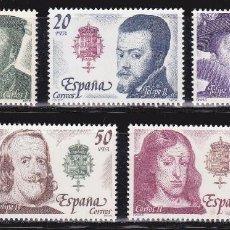Sellos: 1979 - REYES DE ESPAÑA - CASA DE AUSTRIA - EDIFIL 2552,2553,2554,2555,2556 - SERIE COMPLETA**MNH. Lote 90168076