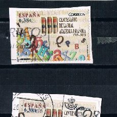 Sellos: ESPAÑA 3 SELLOS IGUALES MATASELLADOS REAL ACADEMIA ESPAÑOLA. Lote 90663955