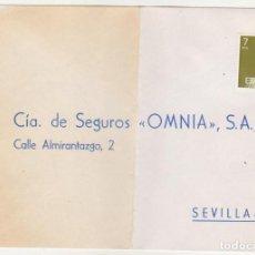 Sellos: CARTA CON MEMBRETE A SEVILLA. FRANQUEO SIN MATAR.. Lote 91187695