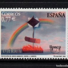 Sellos: ESPAÑA 4120** - AÑO 2004 - AMERICA - UPAEP - PROTECCION DEL MEDIO AMBIENTE. Lote 222720756