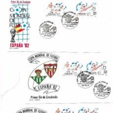 Sellos: ESPAÑA Y ANDORRA. CONJUNTO DE 6 SOBRES DEL TEMA DEPORTES. Lote 91283025