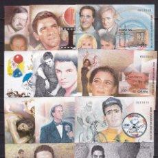 Sellos: 2000. HOJITAS EXPOSICIÓN MUNDIAL DE FILATELIA MISMA NUMERACIÓN EDIFIL Nº 3756/3766 SIN DENTAR. Lote 91376595