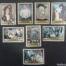 Sellos: ESPAÑA. EDIFIL. 2481/8. SERIE COMPLETA USADA. 1978. PINTURAS. PICASSO. Lote 91601562