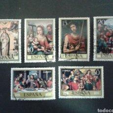 Sellos: ESPAÑA. EDIFIL. 2537/42. SERIE COMPLETA USADA. 1979. PINTURAS. JUAN DE JUANES.. Lote 91601750
