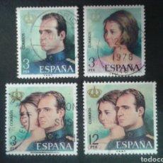 Sellos: ESPAÑA. EDIFIL 2302/05. SERIE COMPLETA USADA. 1976. REYES JUAN CARLOS I Y SOFÍA.. Lote 91872010