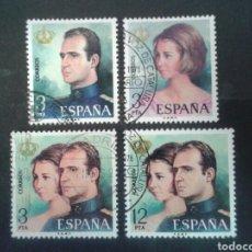 Sellos: ESPAÑA. EDIFIL 2302/05. SERIE COMPLETA USADA. 1976. REYES JUAN CARLOS I Y SOFÍA.. Lote 91872014