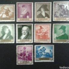 Sellos: ESPAÑA. EDIFIL 1210/19. SERIE COMPLETA USADA. 1958. PINTURAS. GOYA.. Lote 91872933