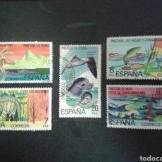 Sellos: ESPAÑA. EDIFIL 2469/73. SERIE COMPLETA USADA. 1978. PROTECCIÓN DE LA NATURALEZA. FAUNA. FLORA. Lote 91976067