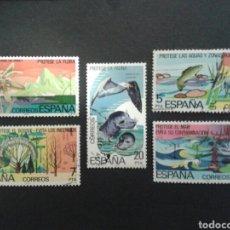 Sellos: ESPAÑA. EDIFIL 2469/73. SERIE COMPLETA USADA. 1978. PROTECCIÓN DE LA NATURALEZA. FAUNA. FLORA. Lote 91976072