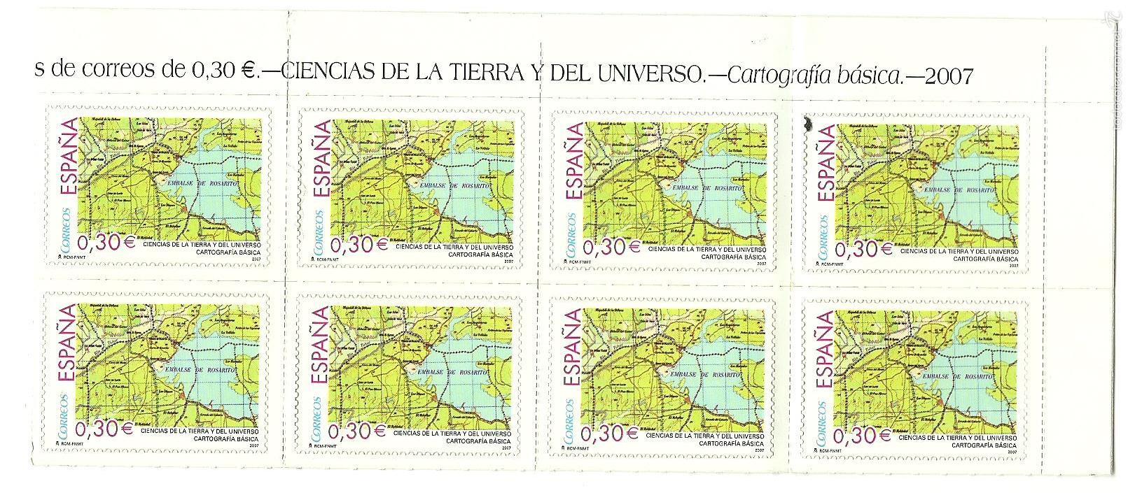 8 SELLOS CIENCIAS DE LA TIERRA Y DEL UNIVERSO - AÑO 2007 - NUEVOS (Sellos - España - Juan Carlos I - Desde 2.000 - Nuevos)