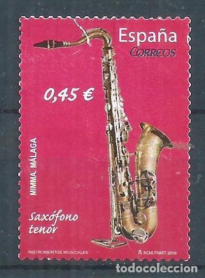 R16/ ESPAÑA USADOS 2010, EDF. 4550, INSTRUMENTOS MUSICALES (Sellos - España - Juan Carlos I - Desde 2.000 - Usados)