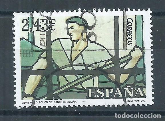 R16/ ESPAÑA USADOS 2007, VIDRIERAS (Sellos - España - Juan Carlos I - Desde 2.000 - Usados)