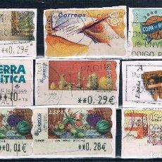 Sellos: ESPAÑA 4 FOTOGRAFIAS DE ATM CON FRAGMENTO MATASELLADOS MODERNOS VER. Lote 93399330