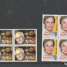 Sellos: SPAIN 2017 - SPANISH CINEMA - LINA MORGAN & VICENTE ARANDA BLOCK OF 4 SET MNH. Lote 94414886