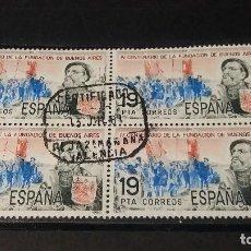 Sellos: ESPAÑA 1980. SELLOS USADOS. IV CENTENARIO FUNDACION DE BUENOS AIRES. SERIE COMPLETA.. Lote 95034319