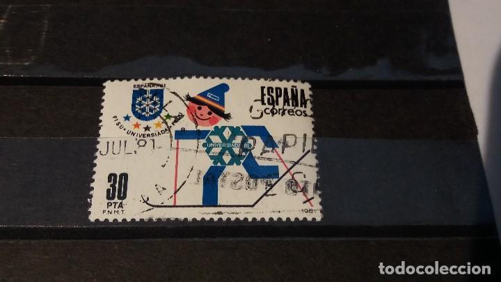 SELLO USADO. UNIVERSIADA ESPAÑA´81. 4 DE MARZO 1981. EDIFIL Nº 2608 (Sellos - España - Juan Carlos I - Desde 1.975 a 1.985 - Usados)
