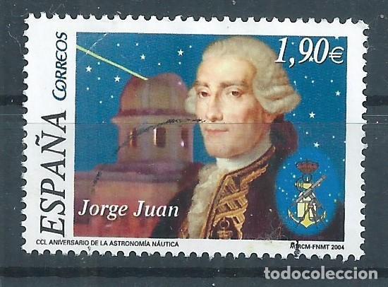 R17/ ESPAÑA USADOS 2004, EDF. 4116, 250º ANIV.ASTRONOMIA NAUTICA (Sellos - España - Juan Carlos I - Desde 2.000 - Usados)