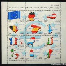 Sellos: MINIPLIEGO 12 SELLOS PAISES EURO. Lote 95873439