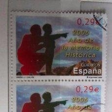 Sellos: ESPAÑA. 2006. BLOQUE DE 3 SELLOS USADOS AÑO DE LA MEMORIA HISTÓRICA . Lote 95893199