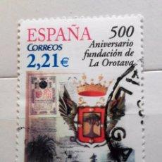 Sellos: ESPAÑA 2006, 500 ANIVERSARIO FUNDACION OROTAVA, USADO . Lote 95893795