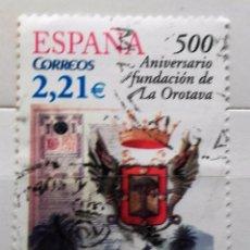 Sellos: ESPAÑA 2006, 500 ANIVERSARIO FUNDACION OROTAVA, USADO . Lote 95893915