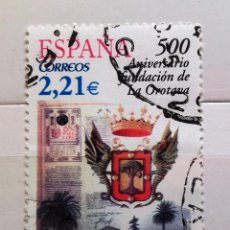 Sellos: ESPAÑA 2006, 500 ANIVERSARIO FUNDACION OROTAVA, USADO . Lote 95893975