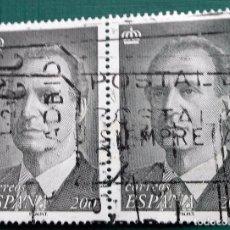 Sellos: ESPAÑA 1996, BLOQUE DE 2 SELLOS USADOS DE REY JUAN CARLOS I DE 200 PTS . Lote 95937747