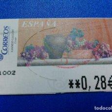 Sellos: ETIQUETAS ATM. UBAR. MATASELLO. 2005. 0,28 €. Lote 96023267