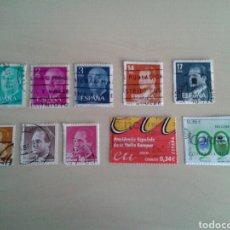 Sellos: LOTE DE 10 SELLOS ESPAÑOLES USADOS. Lote 96327764