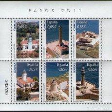 Sellos: HOJE BLOQUE ESPAÑA FAROS 2.011 NUEVA. Lote 96819307