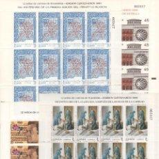 Sellos: ESPAÑA-MINIPLIEGOS 13/16 CENTENARIOS SELLOS NUEVOS (SEGÚN FOTO). Lote 97535363