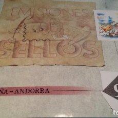 Sellos: LIBRO OFICIAL DE SELLOS DE CORREOS DE ESPAÑA Y ANDORRA 1999. Lote 289324968