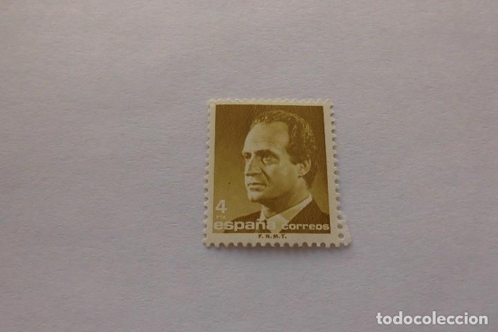 SELLO ESPAÑA 4 PESETAS JUAN CARLOS I OCRE (Sellos - España - Juan Carlos I - Desde 1.986 a 1.999 - Nuevos)