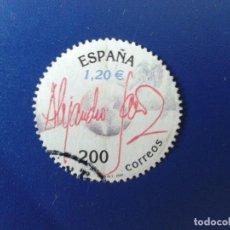 Sellos: SELLO DE ESPAÑA 2000 ALEJANDRO SANZ - EDIFIL 3756 - USADO. Lote 98400191