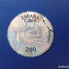 Sellos: SELLO DE ESPAÑA 2000 JULIO IGLESIAS - EDIFIL 3757 - USADO. Lote 98400243