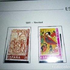Sellos: ESPAÑA EDIFIL 3142/43*** - AÑO 1991 - NAVIDAD. Lote 98659267