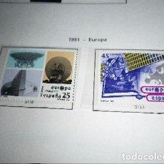 Sellos: ESPAÑA 3116/17*** - AÑO 1991 - EUROPA - EL ESPACIO SELLOS NUEVOS. Lote 98659415