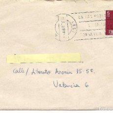 Sellos: SOBRE CON CARTA - CIRCULADA DE G.F.R.I. ALHUCEMAS Nº 5 MELILLA A VALENCIA 1978 -- C-11. Lote 98678759
