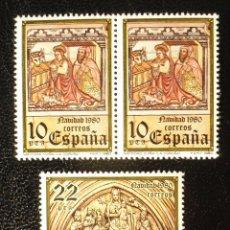 Sellos: 3 SELLOS BLOQUE 1980 NAVIDAD 10 Y 22 PTAS. Lote 98681863